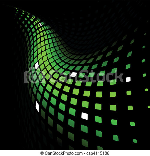 Abstract dynamic green background - csp4115186