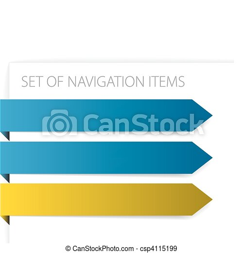 Paper arrows - modern navigation items - csp4115199