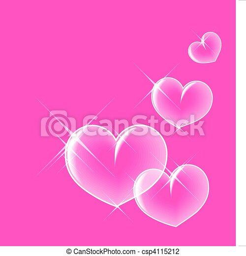 Glassy bubble hearts - csp4115212
