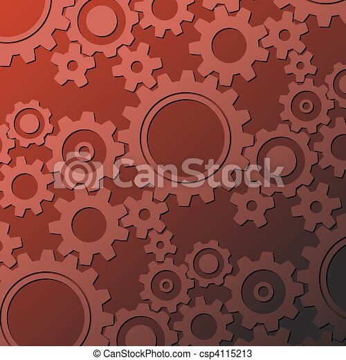 Rusty cogwheels background - csp4115213