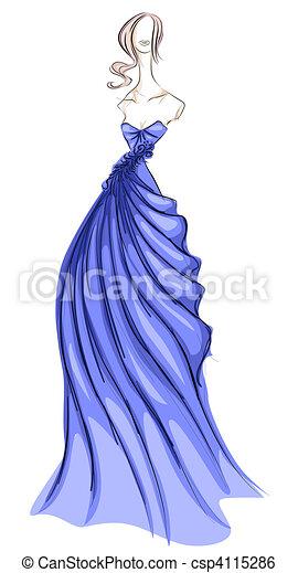 Illustration De Robe Girl Croquis Dans Csp4115286 Recherchez Des Clip