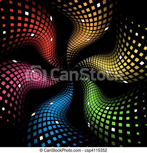 3d abstract dynamic rainbow background - csp4115352