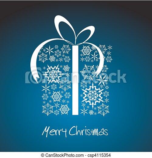 Stylized Christmas present box - csp4115354