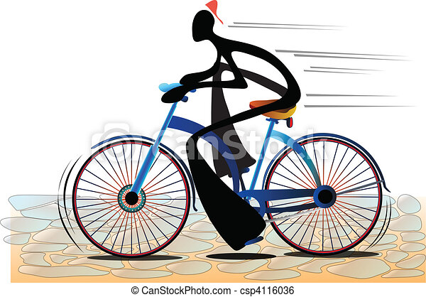 Clip Art de vectores de sombra, hombre, bicicleta - Ilustración ...