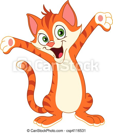 Happy Cat Clip Art Free Happy cat - csp4116531