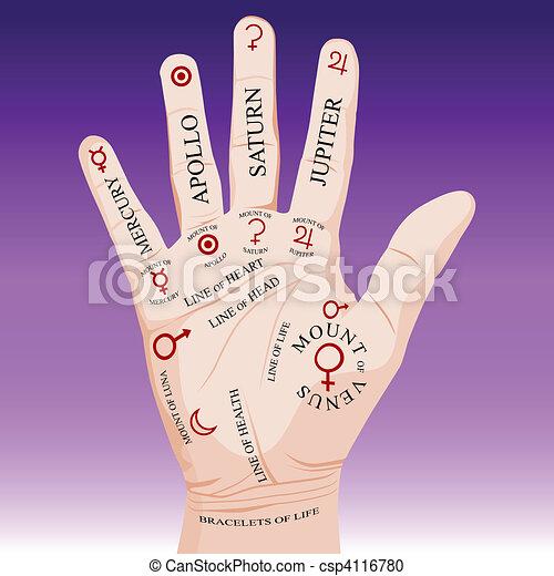 Palm Reading Palmistry - csp4116780