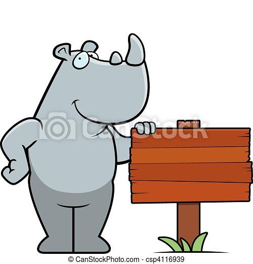 Rhino Sign - csp4116939