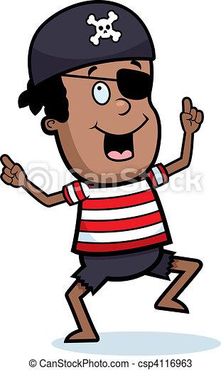 chłopiec, pirat, taniec - csp4116963