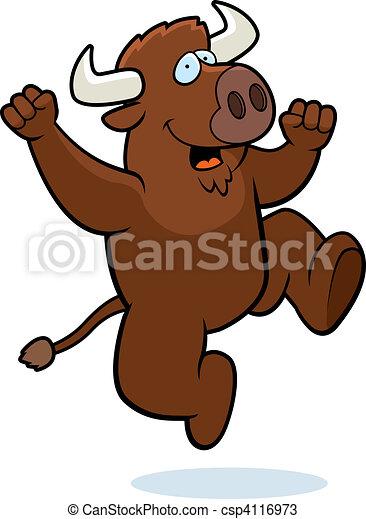 Buffalo Jumping - csp4116973