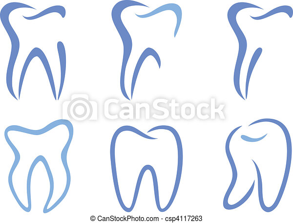 vector teeth - csp4117263