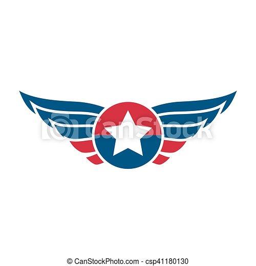 vectores de logotipo o insignia emblema aviaci243n