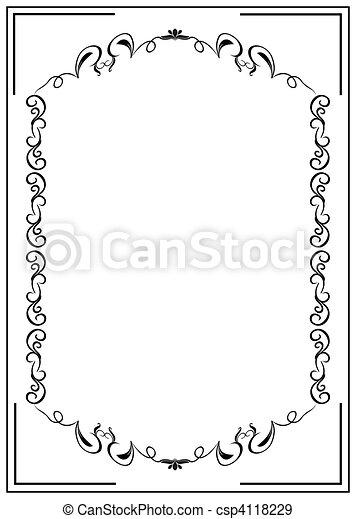 Blank floral frame border - csp4118229