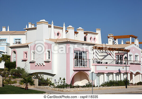 Colorful residential house in Algarve, Portugal - csp4118335