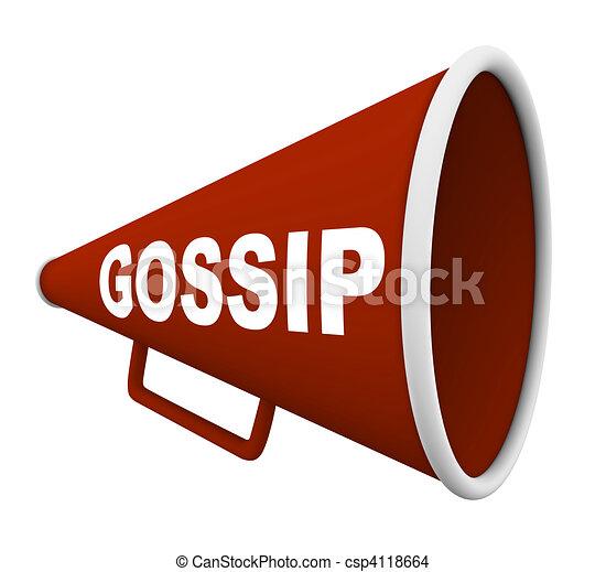 Gossip - Word on Bullhorn - csp4118664