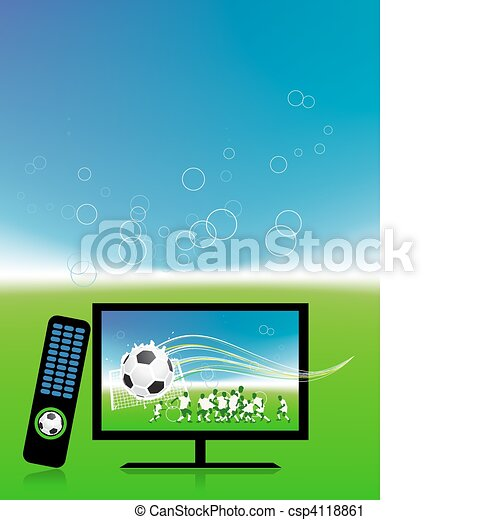 Football match  on tv sports channel - csp4118861
