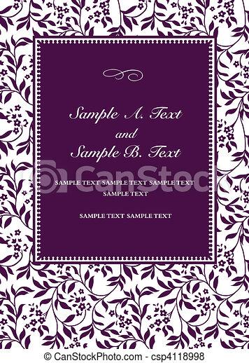 Vector Purple Invitation Frame - csp4118998