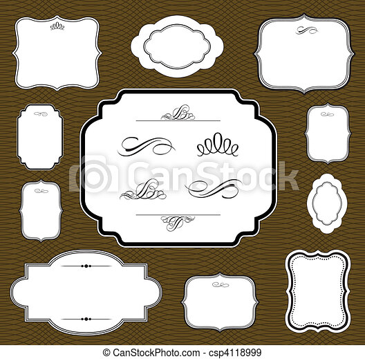 Vector Brown Frame Set - csp4118999