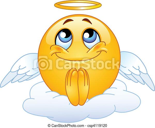 Angel emoticon - csp4119120