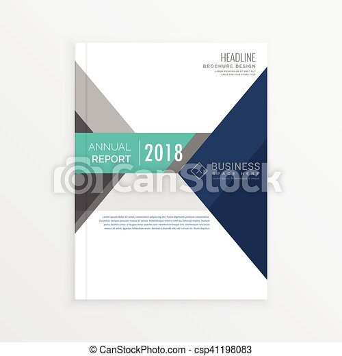 Clipart Vector Of Brochure Template For Annual Report Magazine