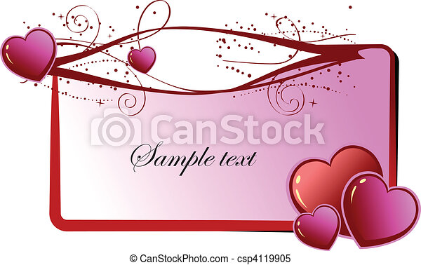 Valentine`s Day  Greeting Card. Ve - csp4119905