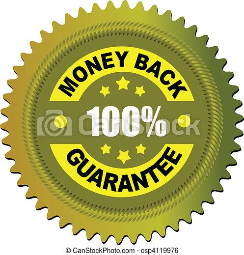 Label money back guarantee. Vector - csp4119976