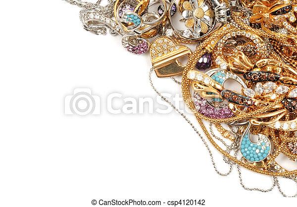 Gold jewelry - csp4120142