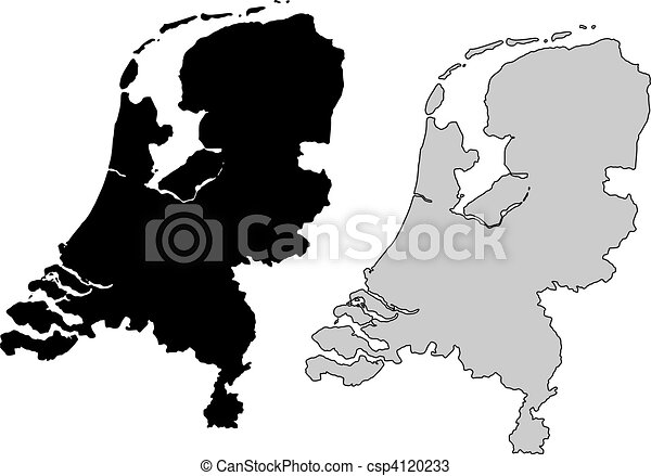 Netherlands map - csp4120233