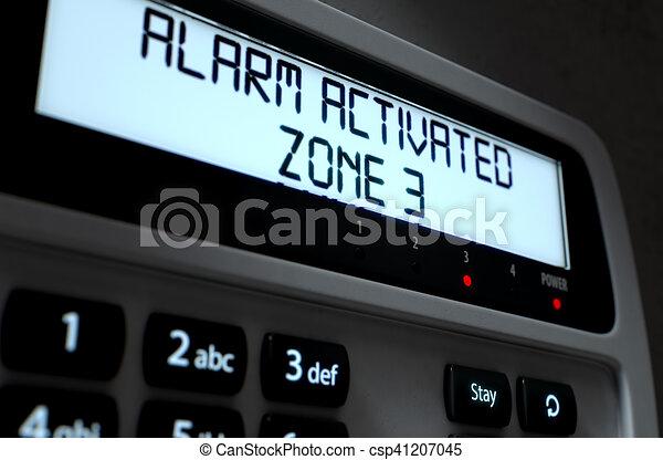 Alarm Panel Activated - csp41207045