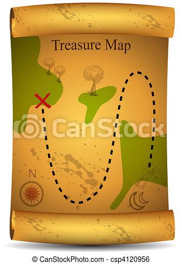 Gold Treasure Map - csp4120956