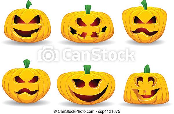 Spooky pumpkins - csp4121075