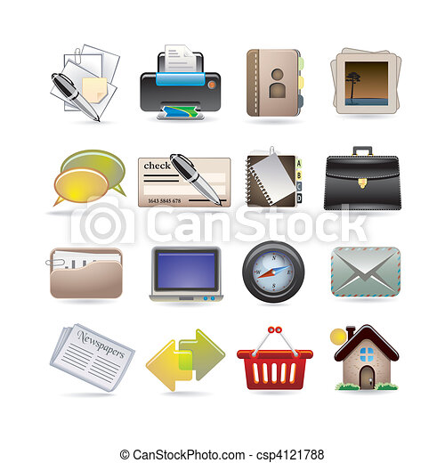 online business icon set - csp4121788