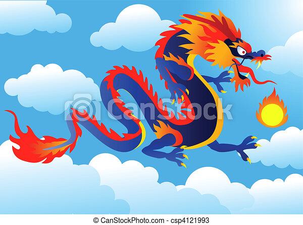 Dragon illustration - csp4121993