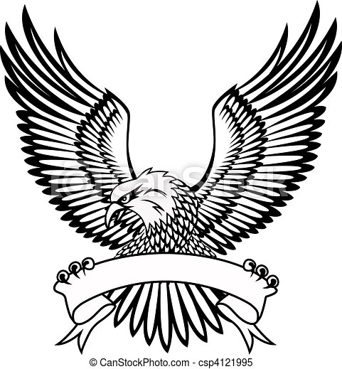 Eagle with emblem - csp4121995