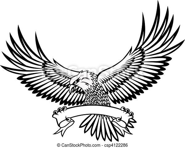 Eagle with emblem  - csp4122286