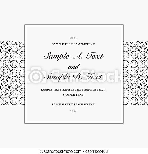 Vector Fancy Square Frame - csp4122463