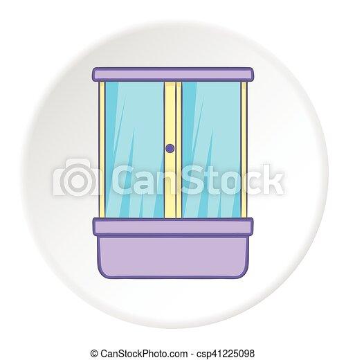 vecteurs eps de douche ic ne style dessin anim cabine douche cabine csp41225098. Black Bedroom Furniture Sets. Home Design Ideas