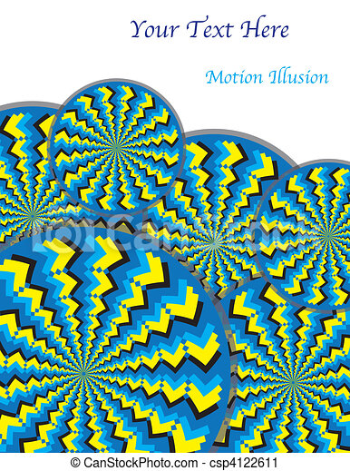 Zigzag Revolutions (motion illusion - csp4122611