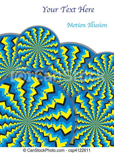 Zigzag Revolutions (motion illusion - csp4122611