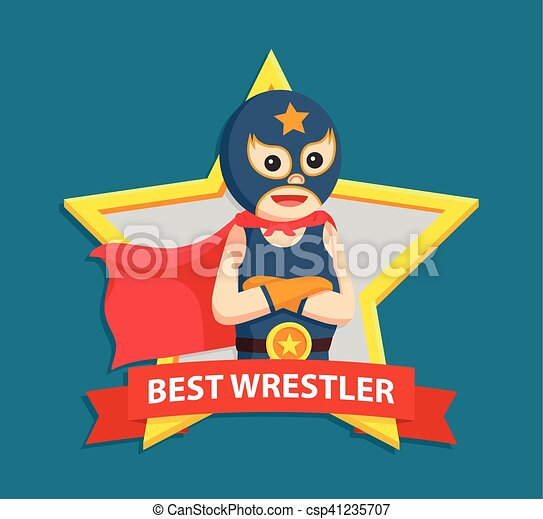 Vector Clipart of lucha libre in best emblem csp41235707 - Search ...