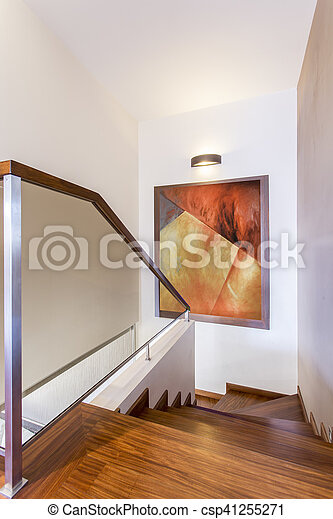 stock de fotos de madera casa escaleras lujo