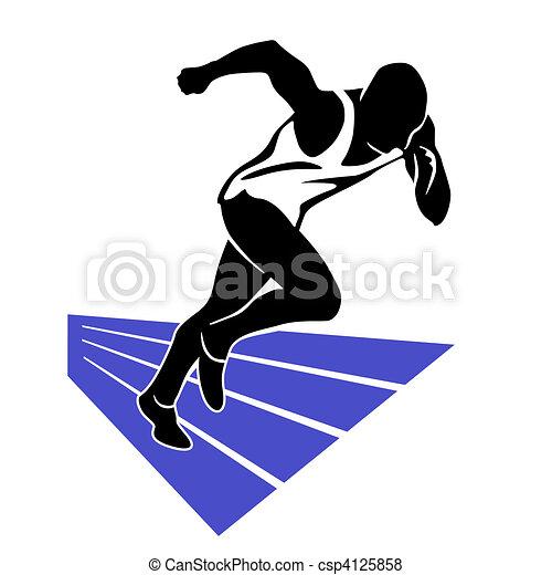 Illustration de coureur sprint csp4125858 recherchez des clip art eps des dessins des - Coureur dessin ...