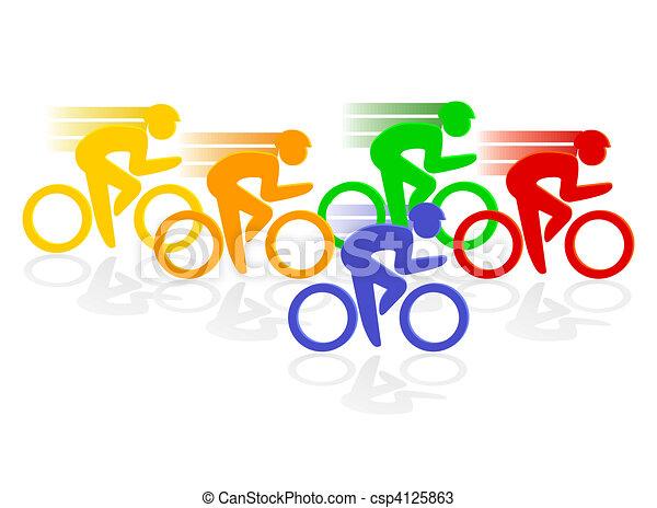 Vectors Of Cycle Racing Csp4125863 Search Clip Art