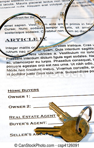 Contract of Home Sale - csp4126091