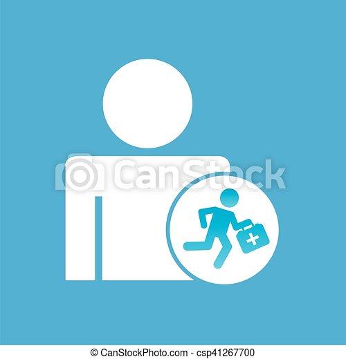 Vektor Clipart von grafik, silhouette, sanitäter, hilfe, mann ... | {Sanitäter symbol 51}