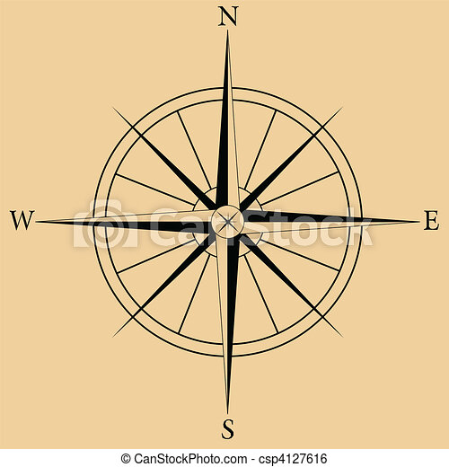 Compass Rose - csp4127616