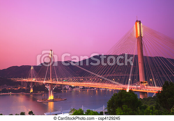 Ting Kau Bridge - csp4129245