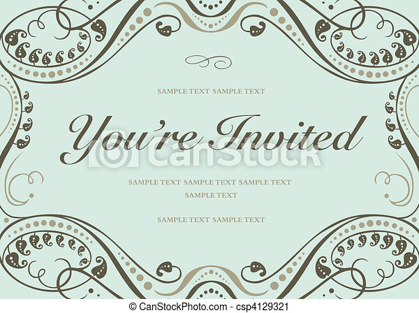 Vector Blue Invitation Background - csp4129321