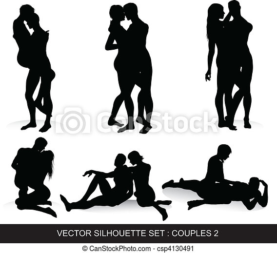 Couple Silhouettes Set - csp4130491