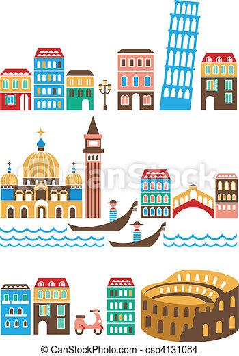 Italian landmarks - csp4131084