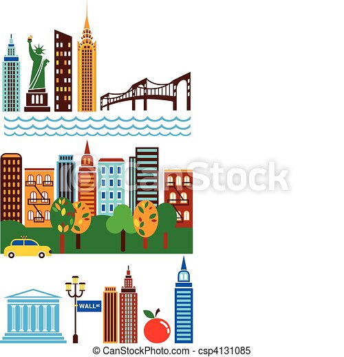 New York skyline - csp4131085